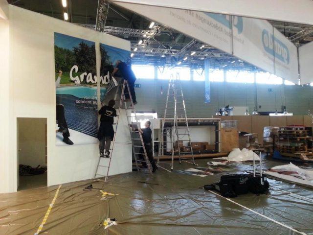 aquanale 2015: der Aufbau läuft